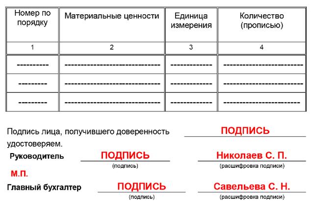 Здесь можно скачать бланк доверенности форма №М-2